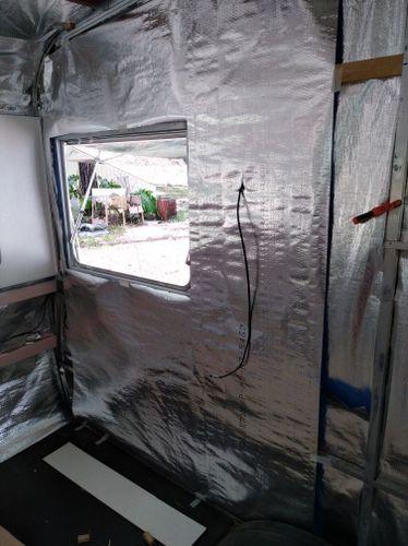 2 layers of ametalin foil insulation with air pocket