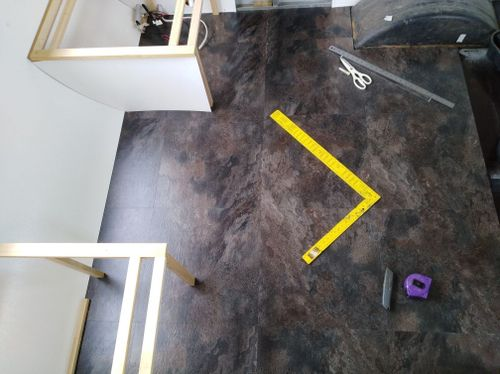 Winton floor tiles with sanded and bondcrete prepped floor