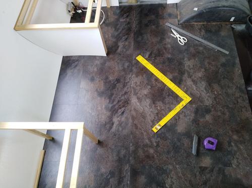 Winton floor tiles with sanded and bondcrete prepped floor