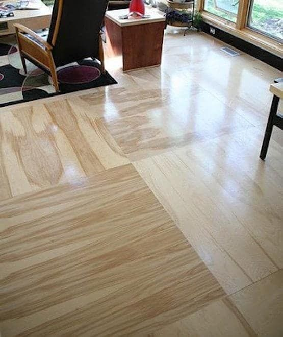 This plywood floor