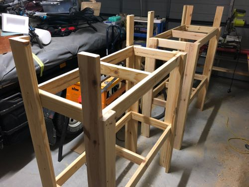 Building the frames of the two units
