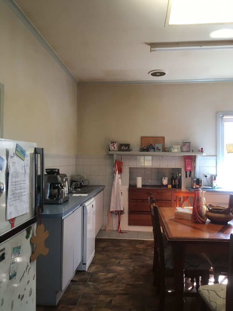 From lounge door down left side