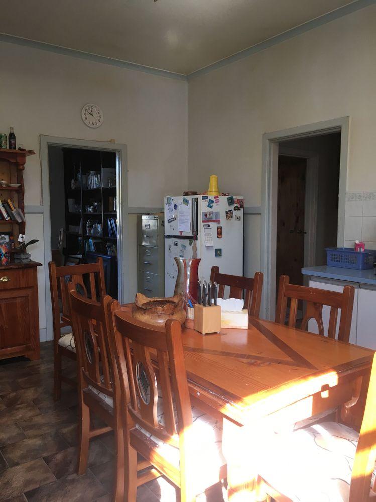 Window across kitchen right