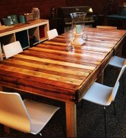 A D.I.Y. table made using pallets