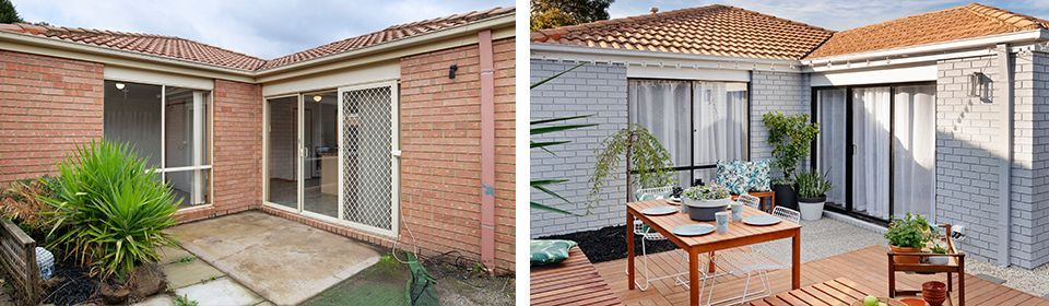 Before and after backyard makeover