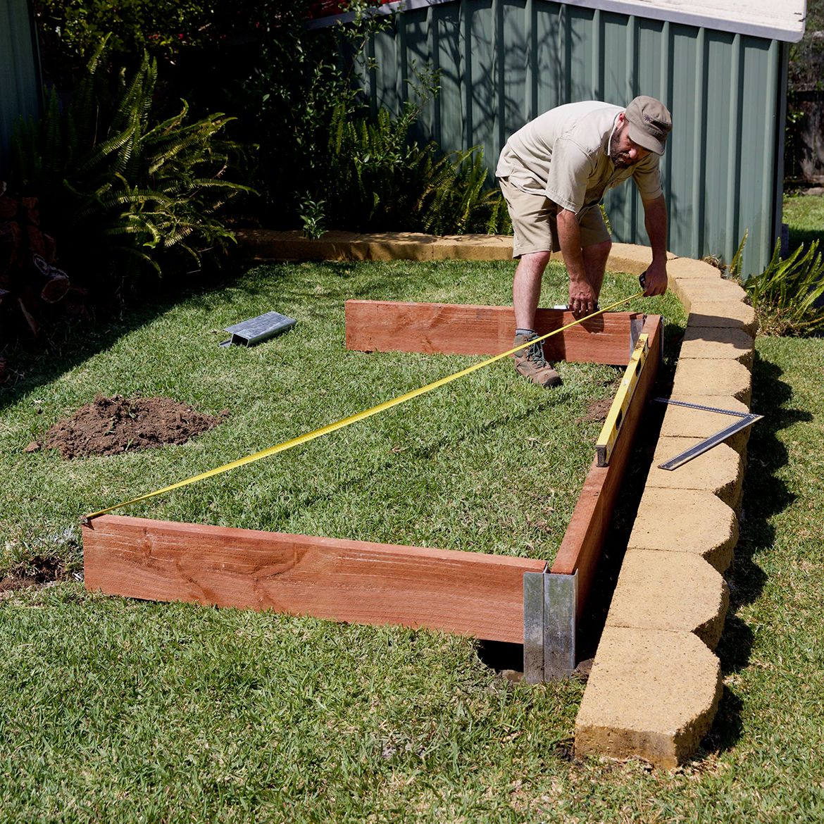 Picture of: How To Build A Simple Raised Garden Bed Bunnings Workshop Community