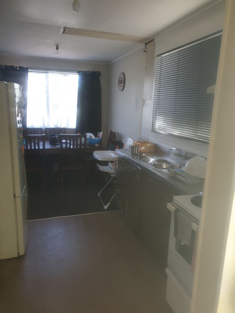 wanting to run new kitchen to the far window