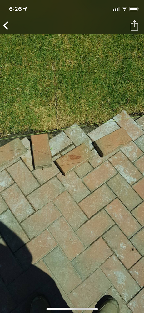 Example of the intended paving pattern