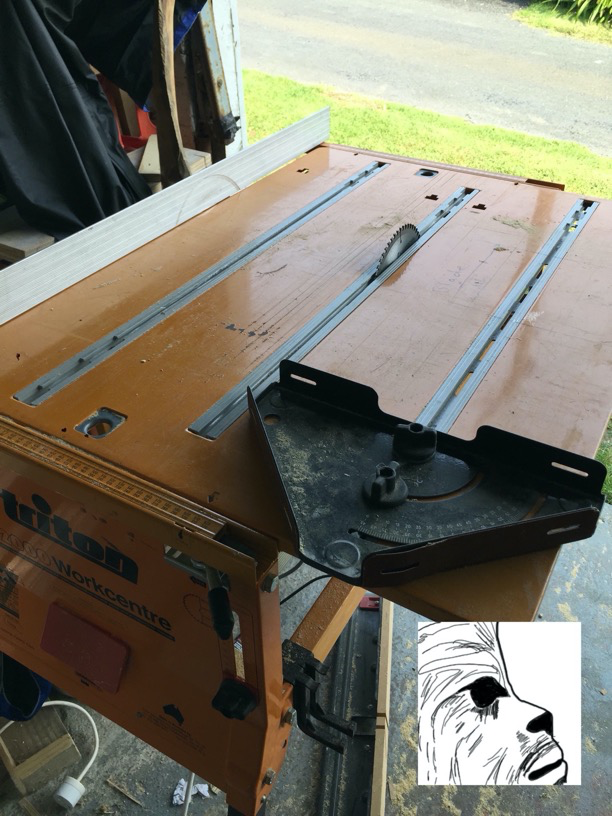 Benchtop installed in tablesaw configuration