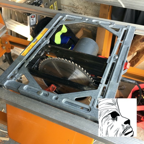 Ozito installed and in tablesaw mode