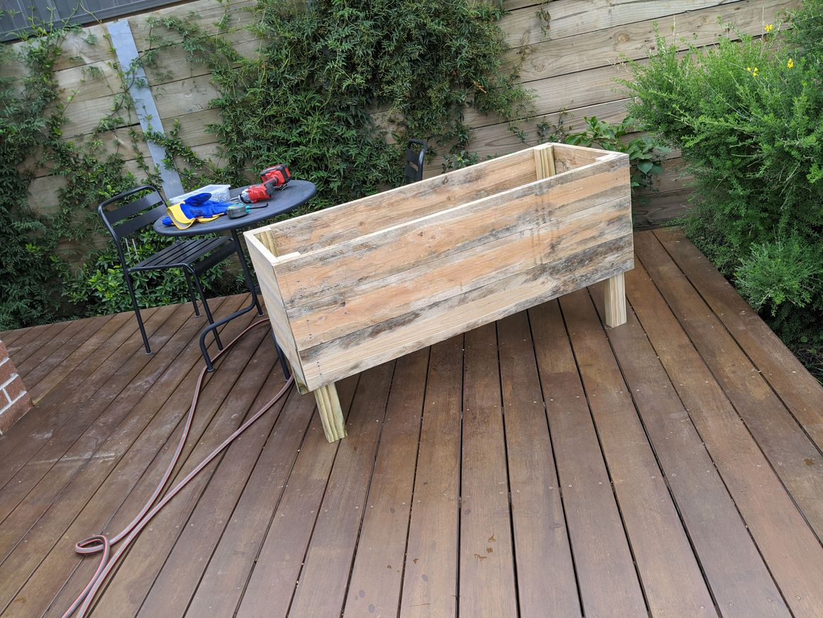 First DIY project - Elevated planter box made from Treated Pine.