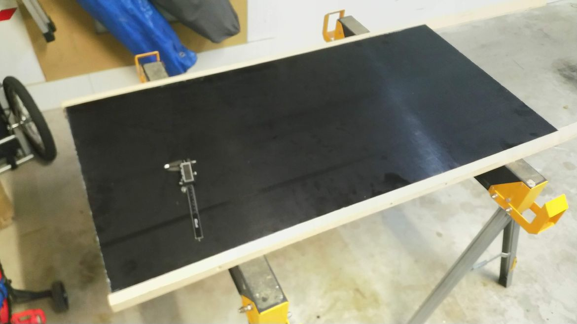 new, Formply tabletop with messmate edging