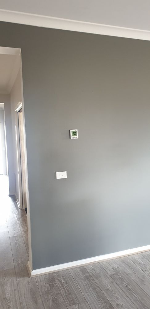 After 3 coats of Malay Grey