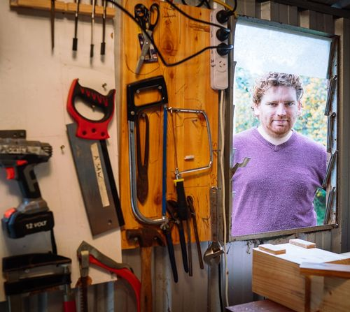 Andrew Jones loves using traditional woodworking tools and techniques.