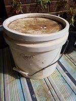 Food grade bucket and lid.