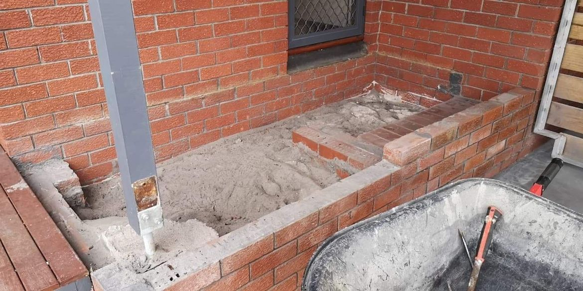 Demo and wall bricked up