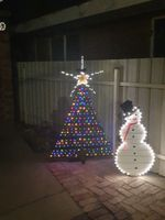 Xmas tree & snowman