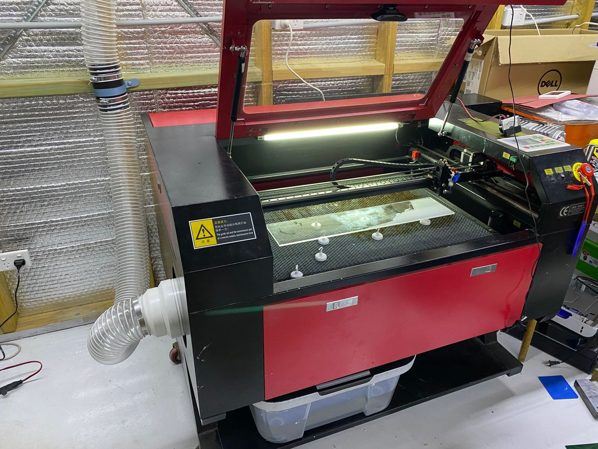 Laser Cutter In its new home