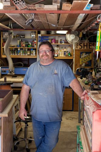 Wayne's woodworking skills are self-taught.