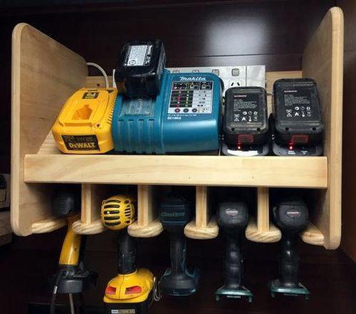 One of Wayne's most popular projects: a drill charging station.
