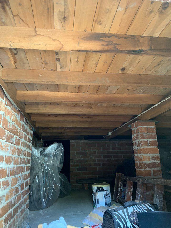 underneath of original timber