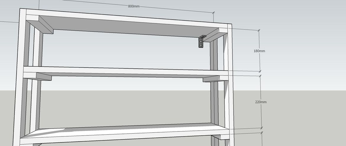 top shelf must be screwed securely with angle bracket to top shelf and back wall