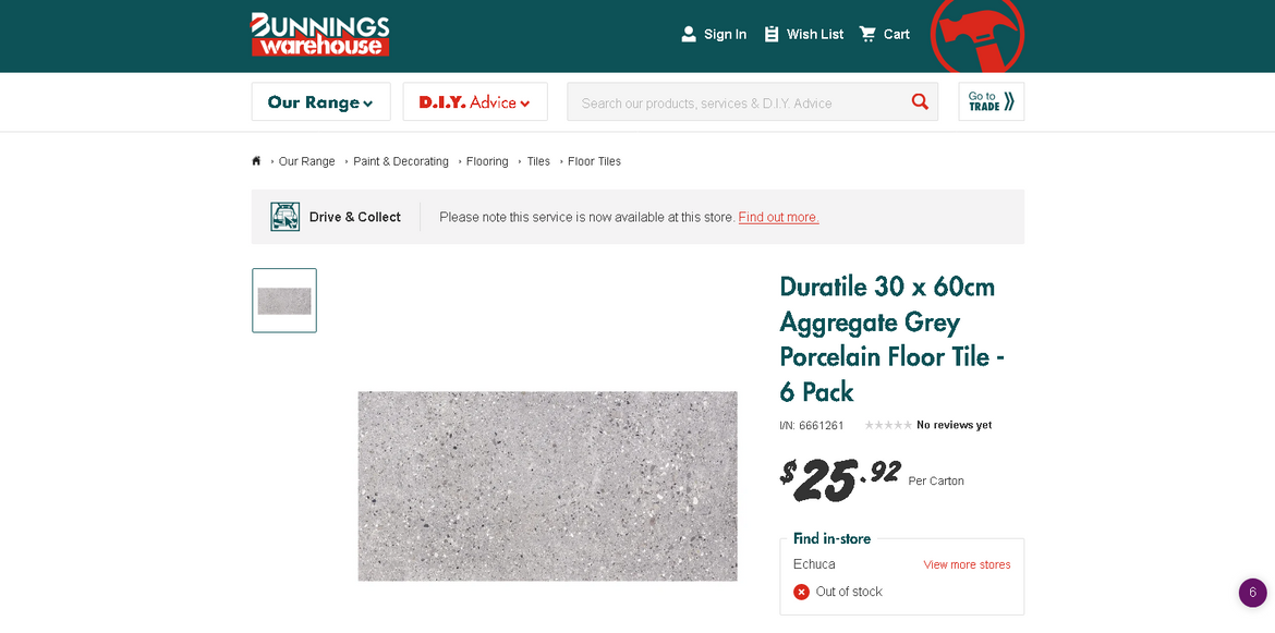 Screenshot_2020-05-01 Duratile 30 x 60cm Aggregate Grey Porcelain Floor Tile - 6 Pack.png