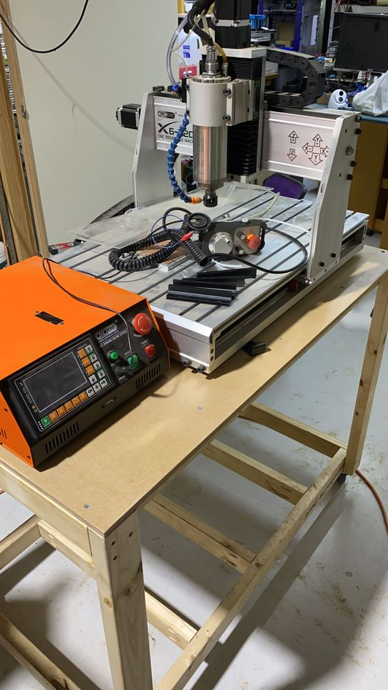 6040 CNC test in its new home