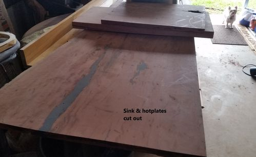 Cut out bits from their slabs