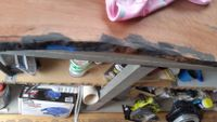 Stained from Black Oxide mixed in wood putty