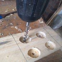 3.5 Pre-drill timber for coach screws..jpg