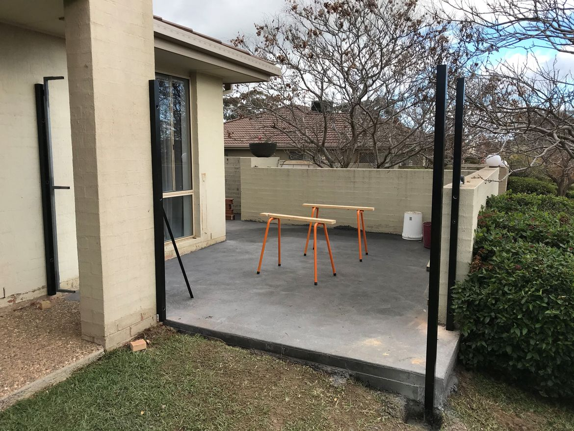 Slab and posts