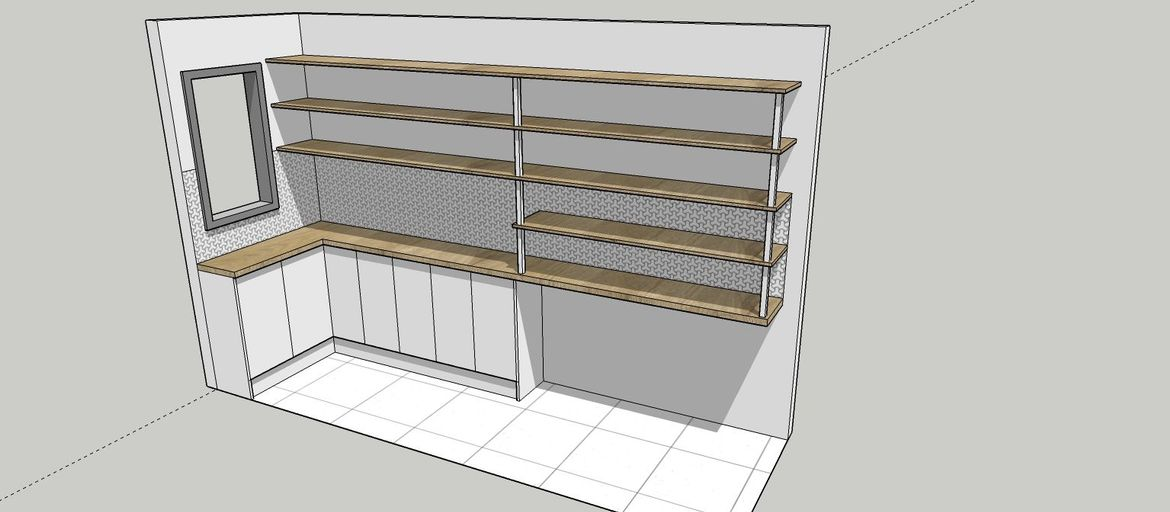 Suggested pantry layout,but final layout is at your discretion.