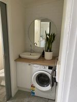 Combined laundry and guest bathroom