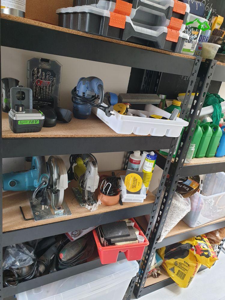shelf for tools