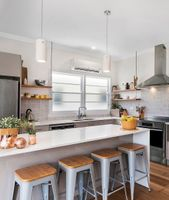 The cottage makeover included a new kitchen