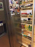Utilising space beside the fridge