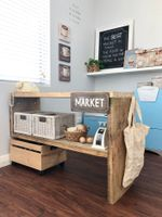 Market stall made from recycled timber