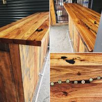 Outdoor bar using recycled materials