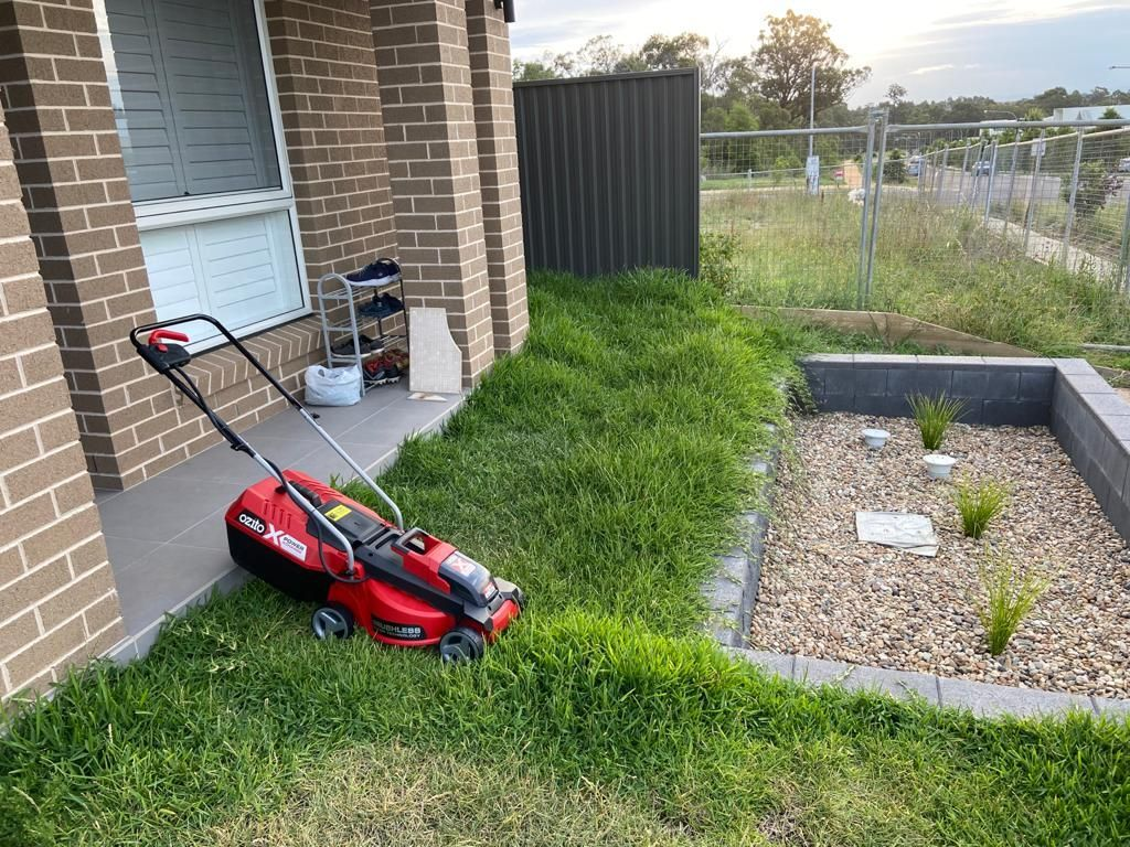 Mower and Grass on front yard.jpeg
