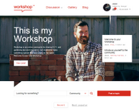 The original Workshop site design