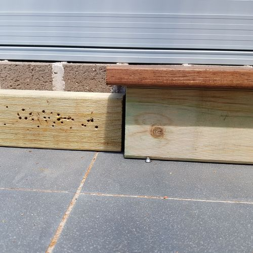 merbau timber on top of 90x45mm timber