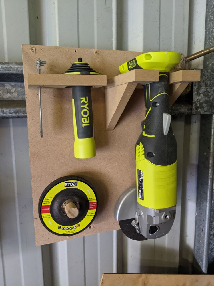 Angle Grinder with Tools and Accessories.