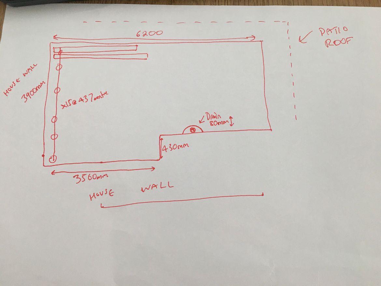 rough sketch of measurements