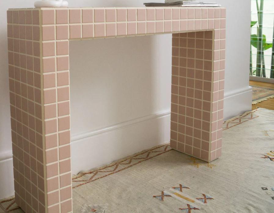 tiled hallway table.JPG