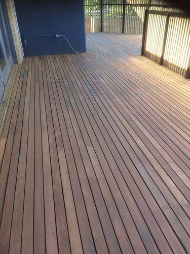Floor sanding done