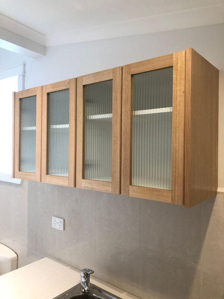 Cupboard, Tasmanian oak doors , side and bottom panel