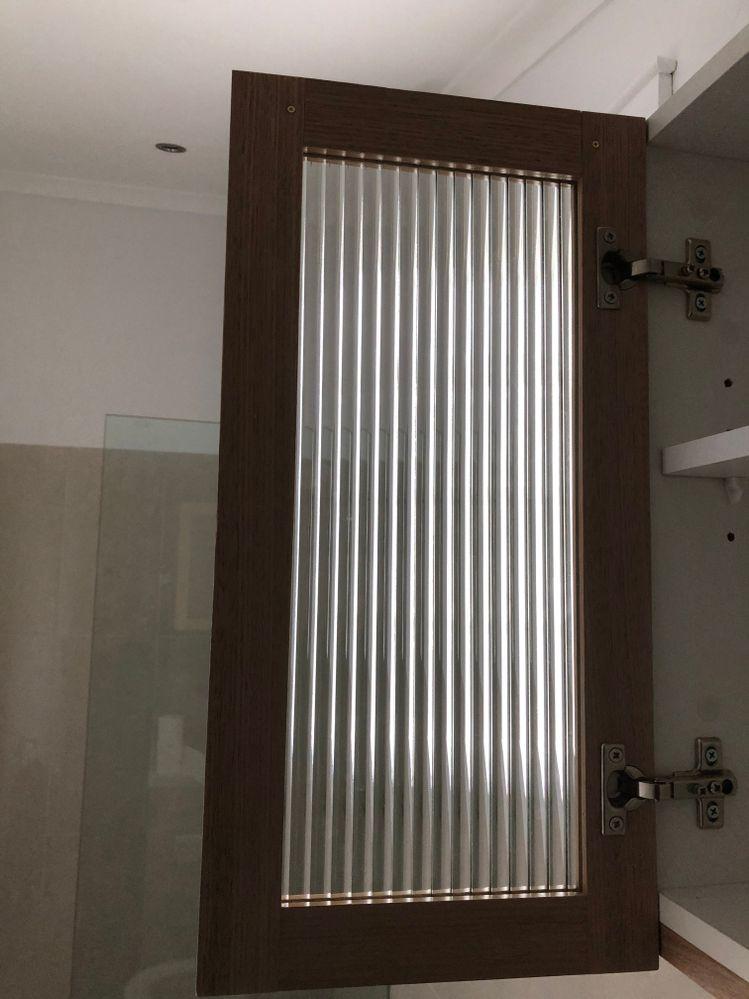 Door with broadline glass.