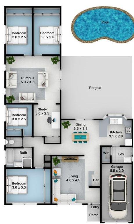 Floor plan at present