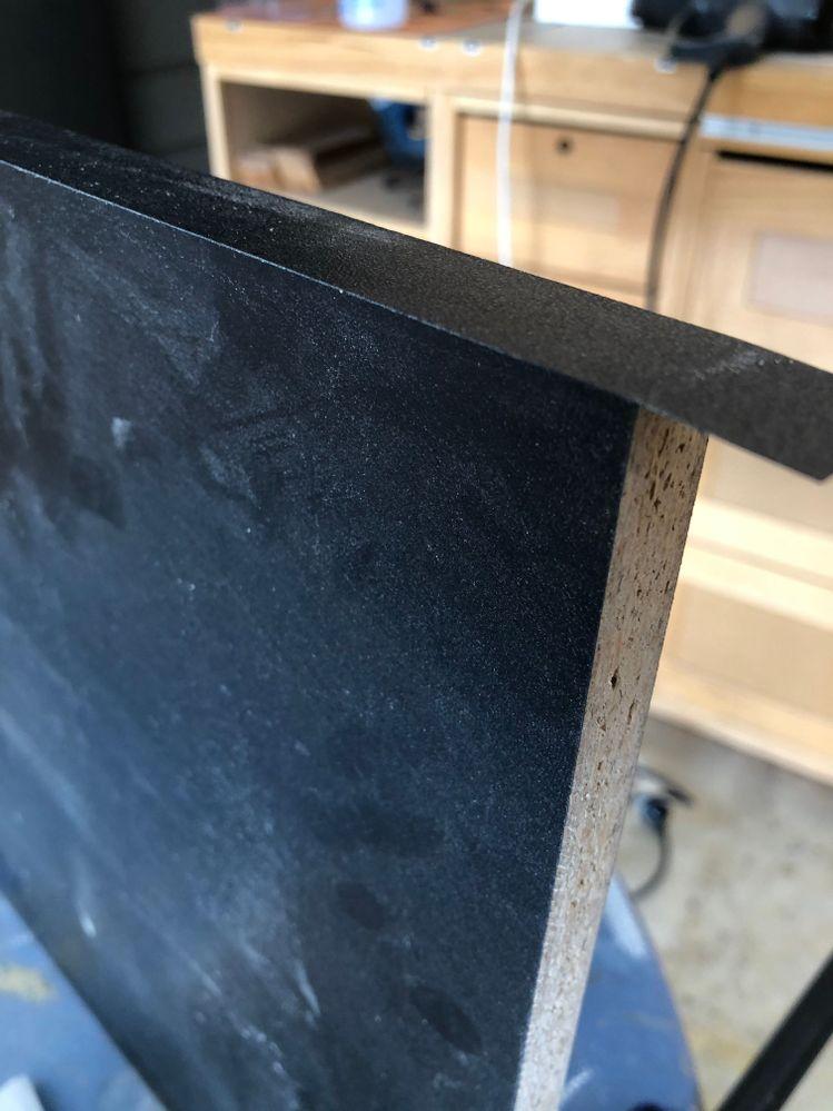 16mm black melamine used and edged